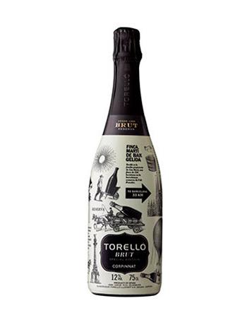 Ampolla de vi escumós Torelló Special Edition Barcelona Brut Reserva 2015 vista frontal