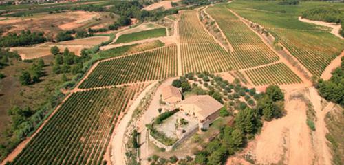 Fotografía de l'edifici i el terreny que ocupa la finca Can Martí